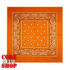 Бандана классическая, цвет оранжевый
