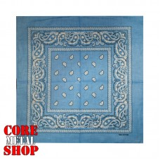 Бандана классическая, цвет голубой