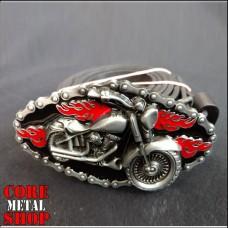 Ремень с мотоциклом