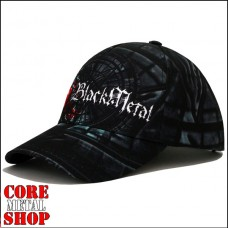 Бейсболка full print - Black Metall