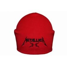 Шапка с вышивкой Metallica красная