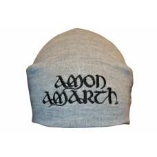 Шапка с вышивкой Amon Amarth серая