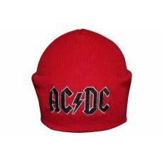 Шапка с вышивкой AC/DC (logo) красная