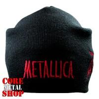 Шапка бини с вышивкой Metallica