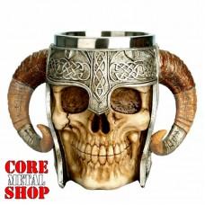 Кружка Череп в шлеме с двумя ручками
