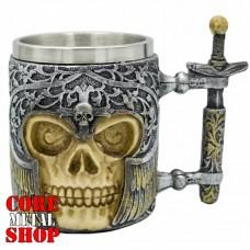 Кружка Череп в шлеме, ручка - меч