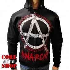Толстовка Anarchy - Fuck The System на молнии