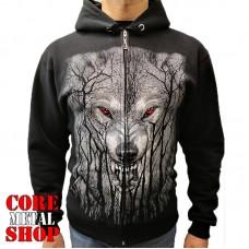 Толстовка Волк с красными глазами