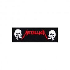 Нашивка вышитая Metallica с черепами