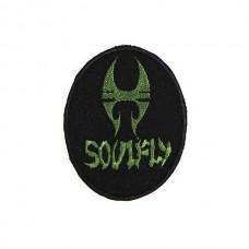 Нашивка вышитая Soulfly овал