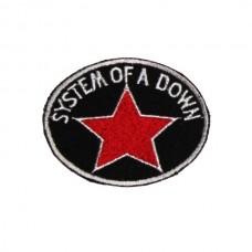 Нашивка вышитая System Of A Down Red Star
