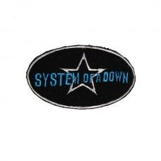 Нашивка вышитая System Of A Down Black Star