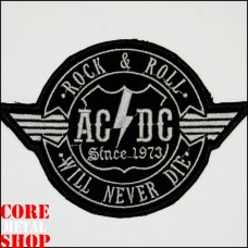 Нашивка ACDC Rock N Roll Will Never Die