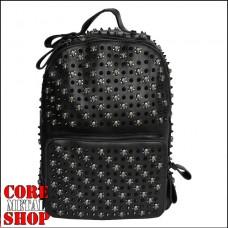 Рюкзак с черепами и черными шипами