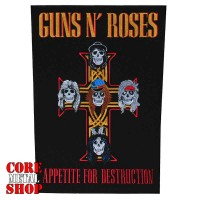 "Нашивка наспинная Guns N' Roses ""Appetite for Destruction"""
