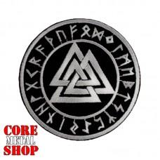 Нашивка с вышивкой Valknut (logo) вырезанное