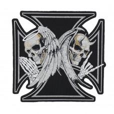 Нашивка наспинная Iron Cross (Angel and Demon)