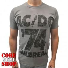 Футболка AC/DC - Jailbreak графитовая