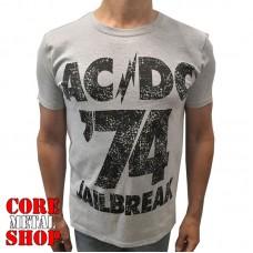 Футболка AC/DC - Jailbreak меланжевая