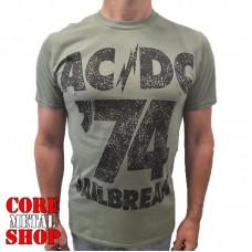 Футболка AC/DC - Jailbreak оливковая