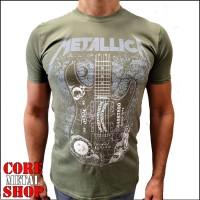 Футболка Metallica - Kirk Hammet (олива)