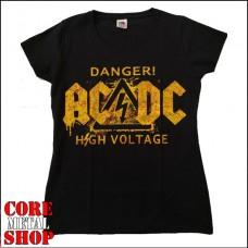 Женская футболка AC\DC - High Voltage