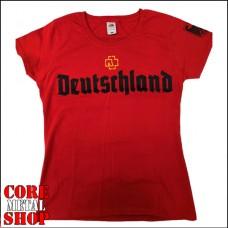 Женская футболка Rammstein - Deutschland (красная)