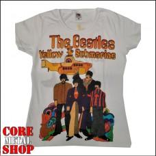 Женская футболка The Beatles - Yellow Submarine