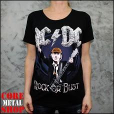 Женская футболка ACDC Rock Or Bust
