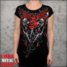 Туника Красные Розы с Черепом